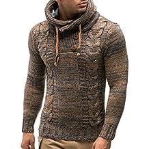 LEIF NELSON Hombres Sudadera con Capucha Jersey de Punto de Manga Larga  LN20227 suéter Sudadera f7e663ad2328