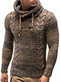 LEIF NELSON Gilet tricot col large, Ch - Brun - Taille Large...