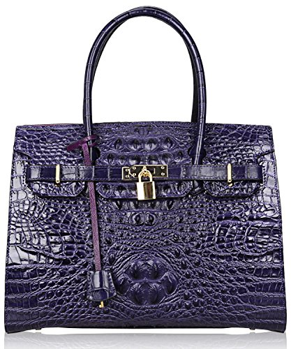 pijushi-genuine-leather-tote-crocodile-ladies-padlock-handbags-with-gold-hardware-u65293-violet