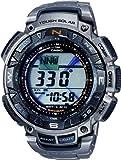 Casio - PRG-240T-7ER - Montre Homme - Quartz - Digitale - Bracelet Titane Argent