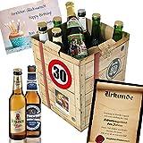 30 Geburtstag Geschenk für Freund - Bier Geschenk Box + gratis Geschenkkarten + Bierbewertungsbogen. Brauerei Eller + Schlappeseppel + Tegernseer + ...Bierset + Biergeschenk. Bier Geschenke für Männer. Besser als Bier selber machen oder selbst brauen: Geschenk 30. Geburtstagsgeschenke Geschenkkorb für Männer geburtstagsgeschenk für freund Geschenkkörbe Geburtstag 30 Mann Biergeschenke für Männer 30 Freund Geburtstag Geschenk zum 30. Geburtstag