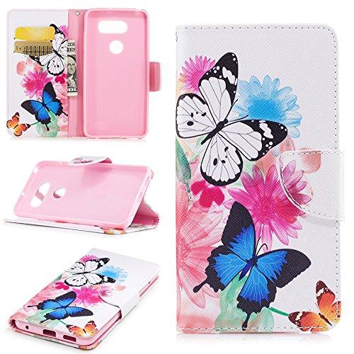 Ooboom® iPhone X Coque PU Cuir Flip Housse Étui Cover Case Wallet Portefeuille Supporter avec Carte de Crédit Fentes pour iPhone X - Arbre Coloré Papillons