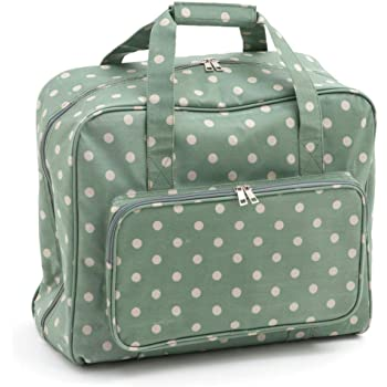 eedfe88334 Hobby Gift Sewing Machine Bag  Matt PVC  Moss Polka Dot