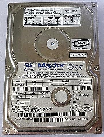 20,4GB MAXTOR DiamondMax Plus 9Disque dur interne vl4032049h2IDE