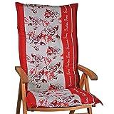 1 Auflage für Hochlehner Sun Garden Prato 30357-300 in rot grau geblümt ohne Stuhl