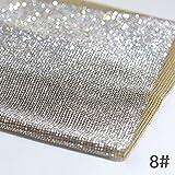 Tappetino per foto completo per unghie Sfondo pieno di diamanti Tovaglietta con tappetino diamantato Stroboscopio Crystal Diamond Manicure Pad,8