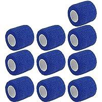 E Support 10Stk Rollen Kohesive Selbsthaftende Bandagen Fingerpflaster Fingerverband Wundverband selbstklebend wasserfest 4.5mx5cm