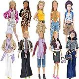 Lance Home® 5 Satz Kleider Winterkleider + Hosen Schuhe Tasche Mode Hut Für Barbie Zubehör Baby Geschenke Casual Style