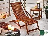 SAM Gartenliege Fuki aus Akazie, Sonnenliege aus Holz, FSC 100% zertifizierter Liegestuhl, Deckchair geölt, massives Gartenmöbel