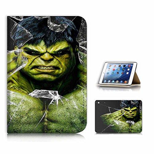A21164 Hulk Klappetui für iPad Mini 1 2 3, Generation 1/2 / 3, inkl. Displayschutzfolie (Hulk Ipad 3 Case)