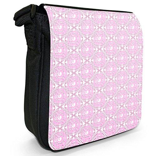 Fancy A Snuggle, Borsa a tracolla donna Pinke Rosen auf weißem Hintergrund