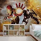 Iron Man Marvel Avengers - Forwall - Fototapete - Tapete - Fotomural - Mural Wandbild - (464WM) - XXL - 312cm x 219cm - VLIES (EasyInstall) - 3 Pieces