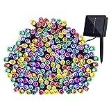 #10: Quace Solar Light 100 LED Festival Fairy String Light Multi Colour