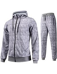 45979ee3e1 AIRAVATA Homme Ensemble Pantalon de Sport Sweatshirt à Capuche Jogging  Survêtement