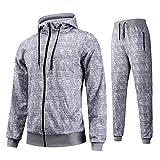 AIRAVATA Herren Jogging Anzug Trainingsanzug Sweatshirt Hose Sportanzug
