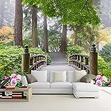 Sproud Custom 3D Sfondo Fotografico Piccolo Ponte Paesaggio Soggiorno Camera Da Letto Divano Foresta Sullo Sfondo Sfondo Murale Papel De Parede 3D 380cmX260cm