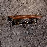 LOFTfan Ripiano di Decorazione da Parete Loft Vintage Creative Bookshelf ripiano da Parete Wall Corridoio Stile Bookshelf Decorazione da Parete Industriale