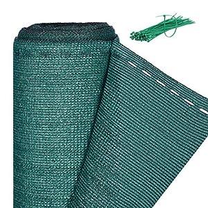 relaxdays, Verde Rete di Recinzione per Recinti e Ringhiere, Tessuto HDPE, Protezione Raggi UV, Resistente, 2 x 15 m, Meter