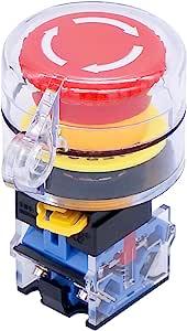 Taiss 22mm 2 Nc Roter Pilz Verriegelungs Not Aus Druckschalter 10a 440v Zusätzliche Schutzabdeckung La38a 02zs Z Baumarkt