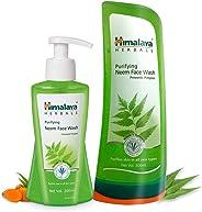 Himalaya Neem Face Wash, 200ml and Himalaya Herbals Purifying Neem Face Wash, 300ml