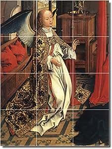 Beschilderung Weyden Angels Bodenfliesen Wandbild 30. 61x 81,3cm mit (12) 8x 8Keramik Fliesen.