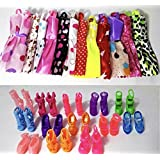 P S Retail Doll Accessories - Pack 12 Cloth and 12 Pair Shoes