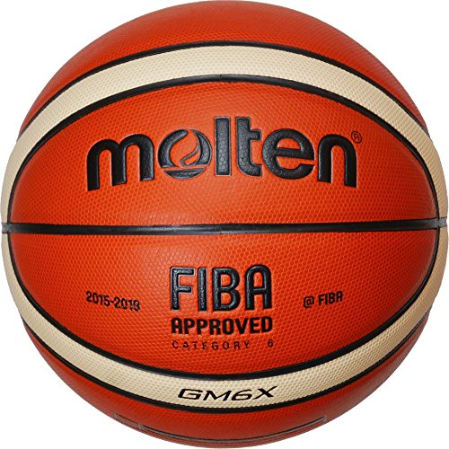 Molten Ballon de Basket, Mixte, Basketball, Orange/Ivory, 6