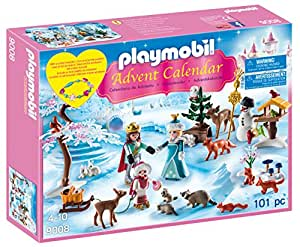 Playmobil 9008 Advent Calendar 'Royal Ice Skating Trip' with a Children's Bracelet