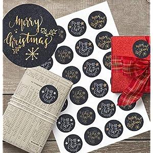 24 Aufkleber*Sticker*Merry Christmas*Weihnachtspost*Chalk*snow*4 cm*