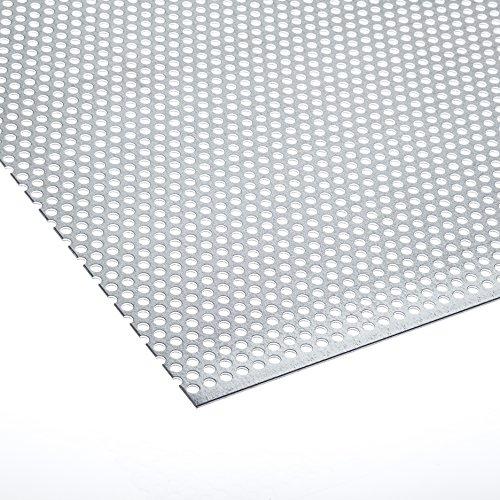 Lochblech Verzinkt RV 5-8 Stahl Verzink 1,0 mm Zuschnitt individuell auf Maß NEU günstig (500 mm x 125 mm)