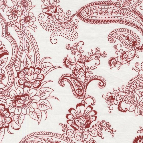 Fat Quarter Pristine Paisley rot Baumwolle Quilten Stoff Michael Miller - Paisley-stoff Rot,