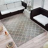 Moderner Design Kurzflor Teppich »Mesh« kariert Raute, Größe:80x150 cm, Farbe:hellblau/beige/rosa/Creme