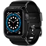 Spigen Rugged Armor Pro Cover Case Compatible with Apple Watch Series 6 | SE | Series 5 | Series 4 (44mm) - Black