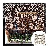 GZHENH Rete di Corda Rete di Corda Reti da Pesca Decorative, Retro Balcone Le Scale Decorazione Murale Maglia del Soffitto Rete di Rimorchi Merci Rete for Vestiti, Personalizzabile