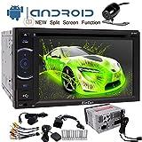 Kostenlose Backup-Kamera + Android 7.1 EinCar Autoradio mit 6.2 Zoll-Screen-Doppel-DIN-GPS-Navigations-DVD-Radio-Audiosystem Unterstützung Bluetooth / WiFi / Spiegel-Verknüpfung mit externem Mikrofon und Split-Screen-Modus