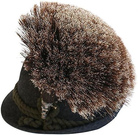 Gamsbart groß mit Hülse ohne Trachten-Hut Trachtenhut Gemse Jagd Gams Gämse