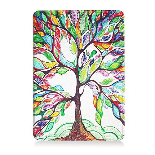 Fintie Étui Kindle Voyage - Housse étui Flip en cuir super fin et léger, fermeture magnétique avec mise en veille automatique pour Amazon Kindle Voyage (7ème génération) 6 Pouces, Noir Z -Love Tree