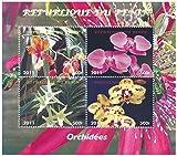 Orchideen Miniatur Blumenbriefmarkenbogenfür Sammler / 2011 / Benin