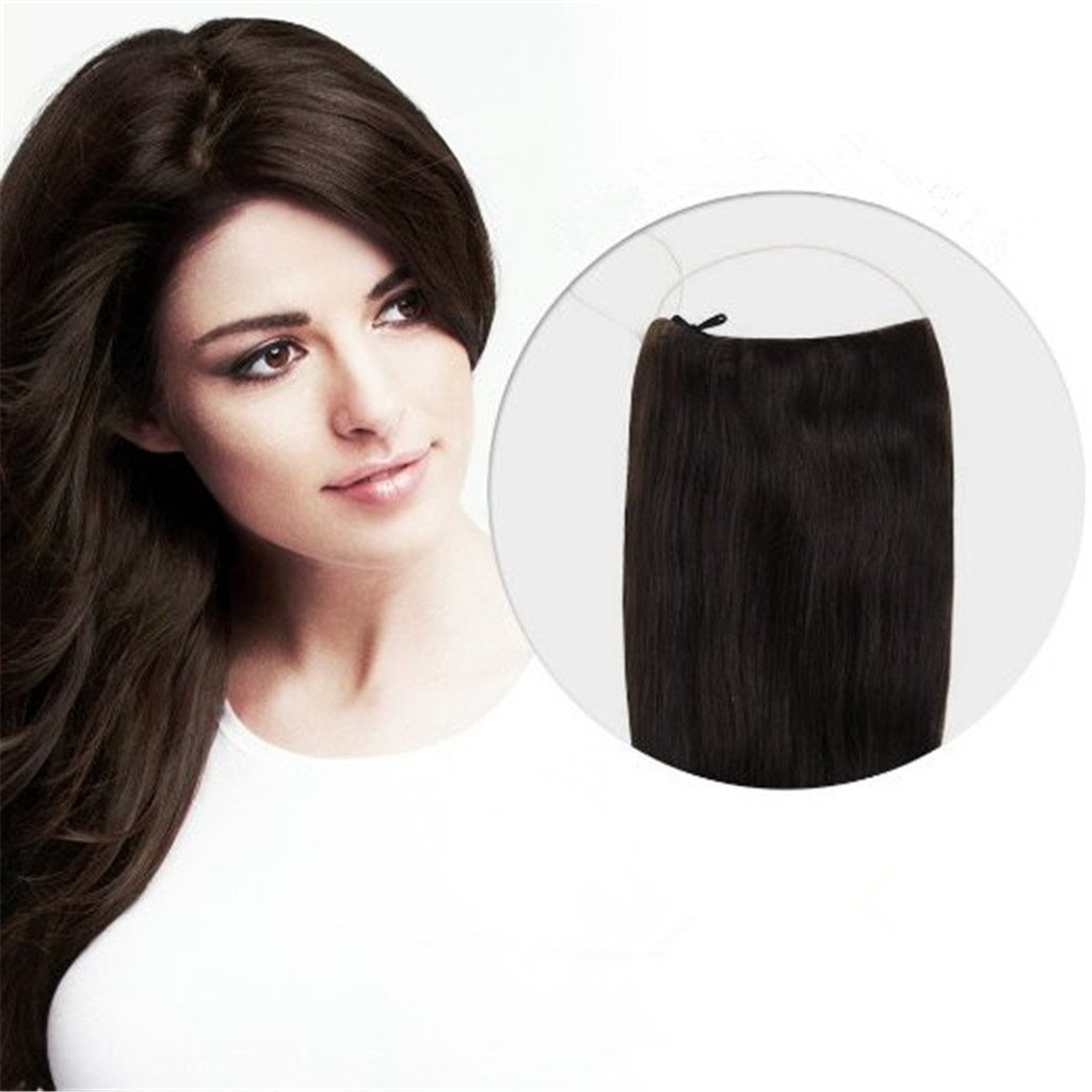 Remeehi NEW Invisible One Piece Hair Extensions Wire 100 Remy Real Human 80g 15 Inches 1b Natural Black Amazoncouk Beauty