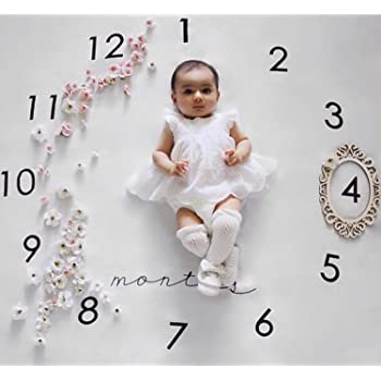 b42cb876ea2fd3 Baby monatliche Meilenstein Decke