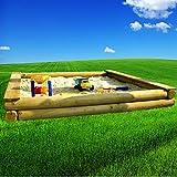 XXL großer Sandkasten 3x3m Rundholz Ø12cm 300cm große Sandkiste 300x300cm
