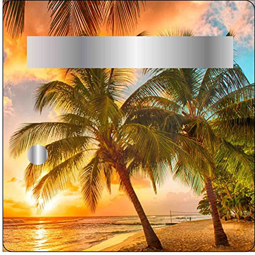 Stickers autocollants Boite aux lettres Déco Coucher de soleil 30x30 cm réf 3502