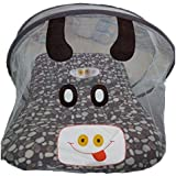 Ineffable Polka Print Portable Baby Crib Mosquito Net Tent Multi-Function Cradle Bed Infant Foldable Mosquito Netting