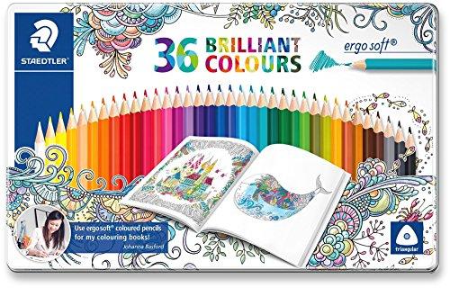 Staedtler Ergosoft 157 M36JB ST Lápices de Color Triangulares, Multicolor, 36 Unidades