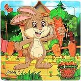 Holzpuzzle, Huihong Baby pädagogische Entwicklungstraining Spielzeug Cartoon Puzzles 12 Monate-5 Jahre alt (❤ 4)