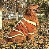WENGSHILIN Cappotti di stoffa grandi stile Eskimo Cappotti Costumi di Halloween Cappotto di zampe Pettorine di protezione Cani di grossa taglia Effetto di camoscio foderato in pile (3XL)