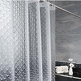 LFF- PEVA Wasserdicht Verdickt Mehltau Duschvorhang Badezimmer Umweltschutz Geruch Duschvorhänge Matt Semipermeable Bad Vorhang (Größe : 220X200cm)