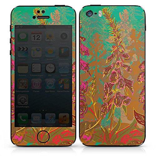 Apple iPhone SE Case Skin Sticker aus Vinyl-Folie Aufkleber Blumen Muster Art DesignSkins® glänzend