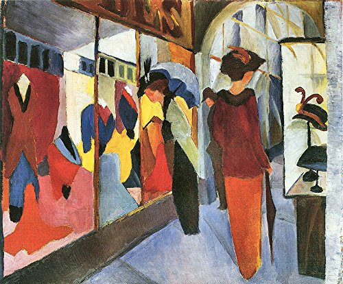 Das Museum Outlet - Fashion Store von August Macke - A3 Poster