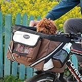 Treat Me Transportín Frontal para Bicicletas Bolso Frontal para Bicicletas Bolso Cesta para Perro Marrón
